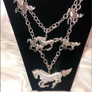 """Brand New Beautiful """"Horses"""" Necklace!"""